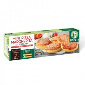 MINI PIZZAS MARGHERITA YEAST DOUGH PRECOOKED